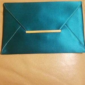 BCBG MaxAzria Emerald (Blue/Green) Envelope Purse